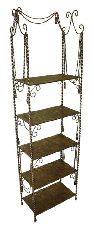 Light Burnished Gold Five Shelf Iron Display Stand By Dr. Livingstone I  Presume $325  Dr Livingstone I Presume Accessories